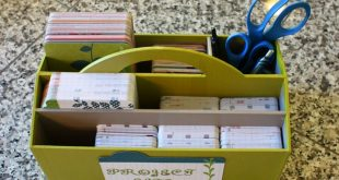 Scrapbook room organization