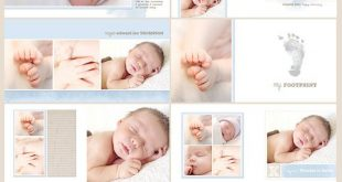 Simply Blue Photobook Template Photoshop Album Template Square Format