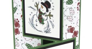 Stampin Up Weihnachtskarte Schneemann Weihnachtskarten Kombinierter Versand