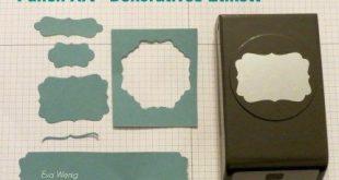 Stempel-ABC - Punch Art Dekoratives Etikett