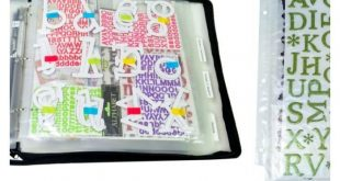 Sticker Storage Organizer for scrapbooking, card making and crafting